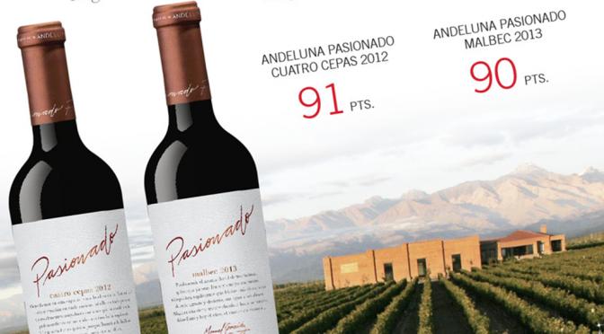 Great Reviews For Andeluna's  Pasionado Cuatro Cepas & Malbec