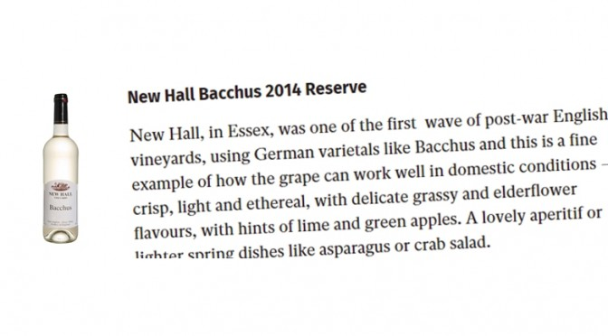 In The Papers: New Hall Bacchus
