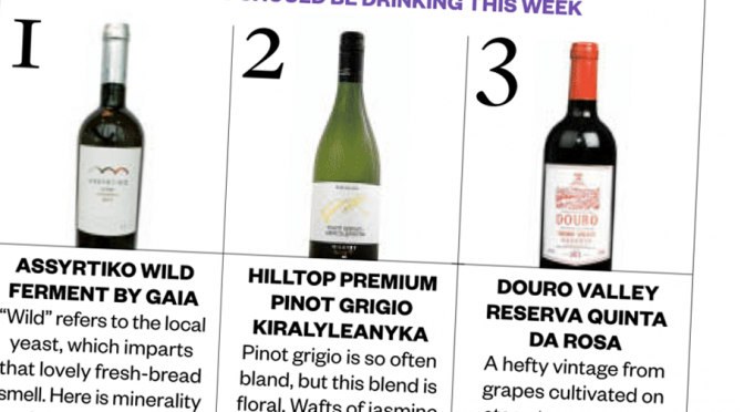 In The Papers: Gaia Wines in The Sunday Times
