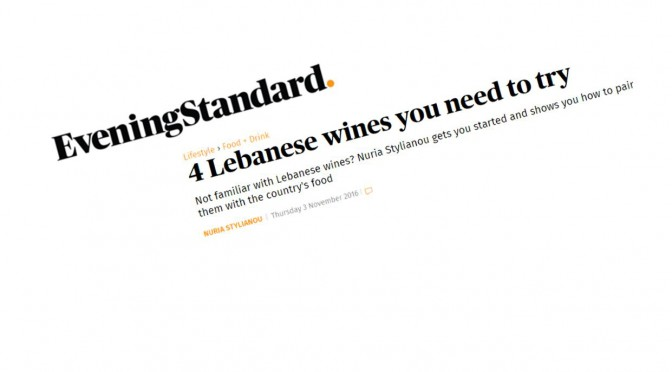 In the Papers: Château Ksara in the Evening Standard