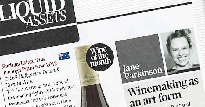 Winemaking As An Art Form – Restaurant Magazine, March issue, Jane Parkinson